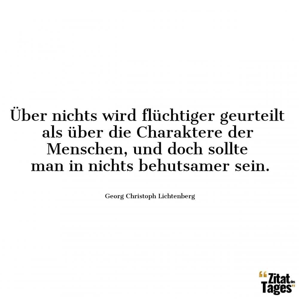 Georg Christoph Lichtenberg Zitate von 40 bis 60