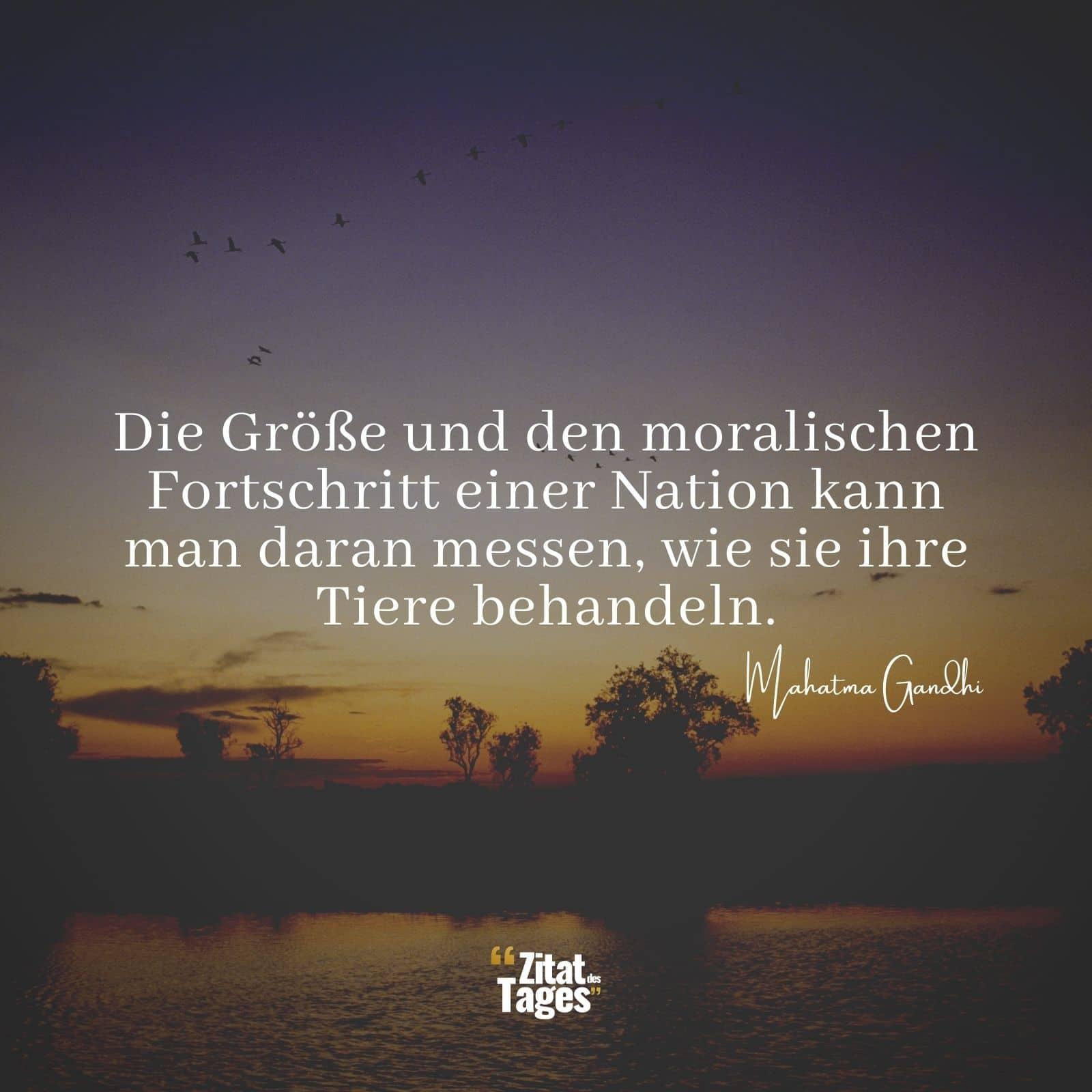 Die Größe Und Den Moralischen Fortschritt Einer Nation Kann