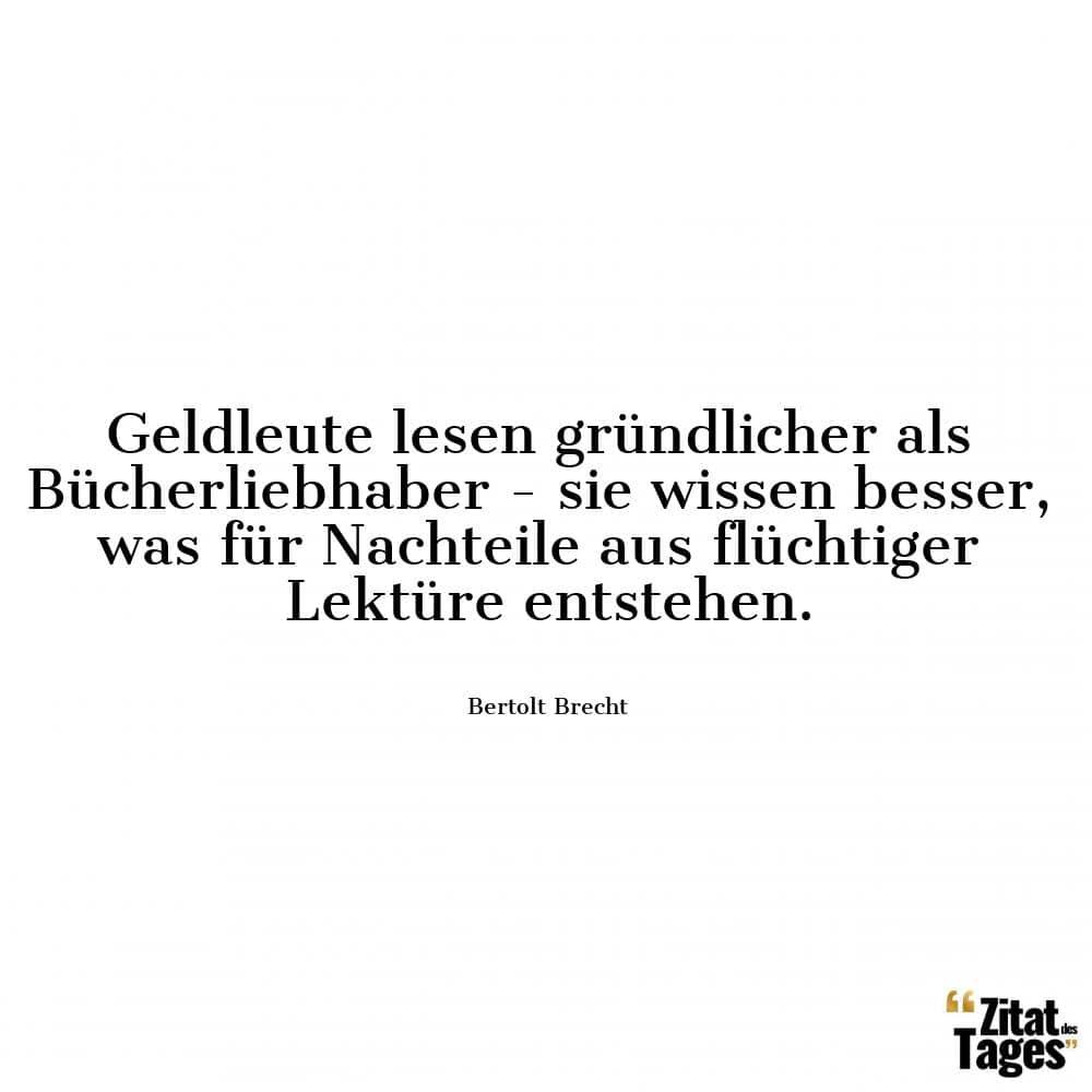 Bertolt Brecht Zitate Und Sprüche Zitat Des Tages