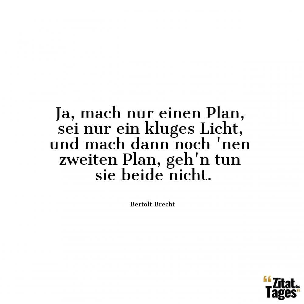 Ja Mach Nur Einen Plan Sei Nur Ein Kluges Licht Und Mach